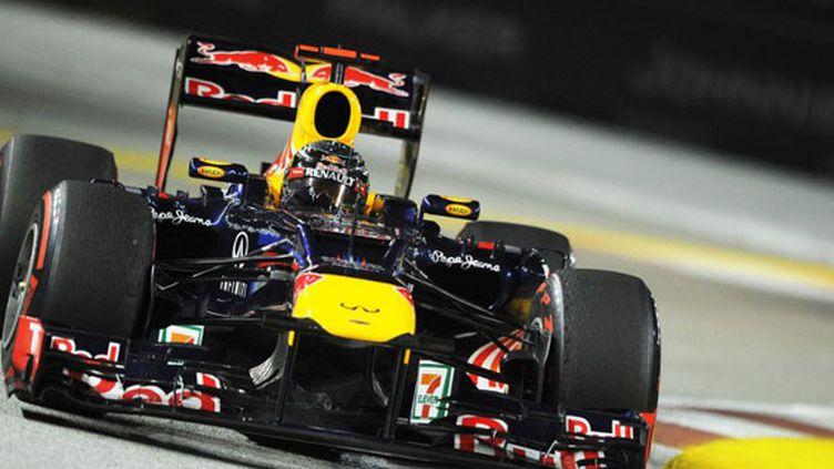 L'Allemand Sebastian Vettel sur le circuit de Singapour