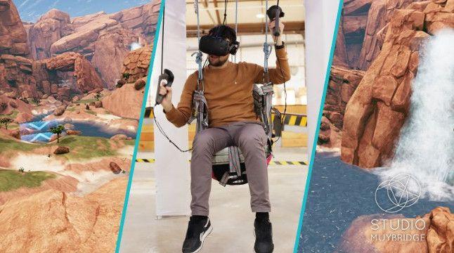 """Ce week-end, """"Paraglider"""" permet des'essayer au parapente... A 50 centimètres du sol. (Studio Muybridge)"""