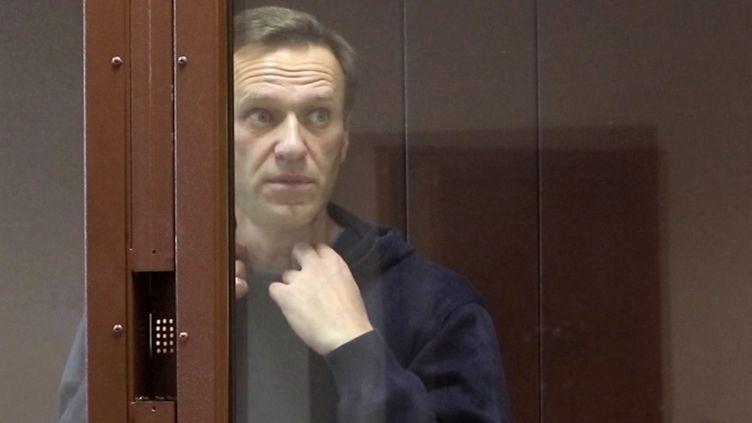 L'opposant russe Alexeï Navalny au tribunal de Moscou, le 16 février 2021. (MOSCOW'S BABUSHKINSKY COURT/AF¨P)