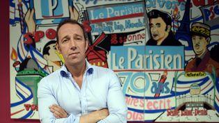 """Stéphane Albouy, directeur des rédactions du """"Parisien-Aujourd'hui en France"""", le 2 juillet 2015 à Saint-Ouen (Seine-Saint-Denis). (STEPHANE DE SAKUTIN / AFP)"""