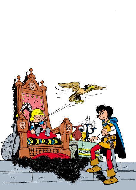 Le Sire de Montrésor, illustration de couverture, 1960 (Peyo 2019 lic. I.M.P.S.(Brussels))