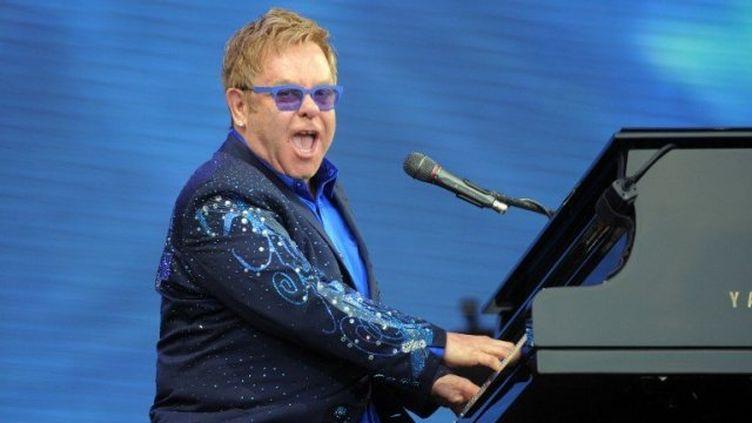 Elton John pendant son concert aux Vieilles Charrues. (AFP / FRED TANNEAU)