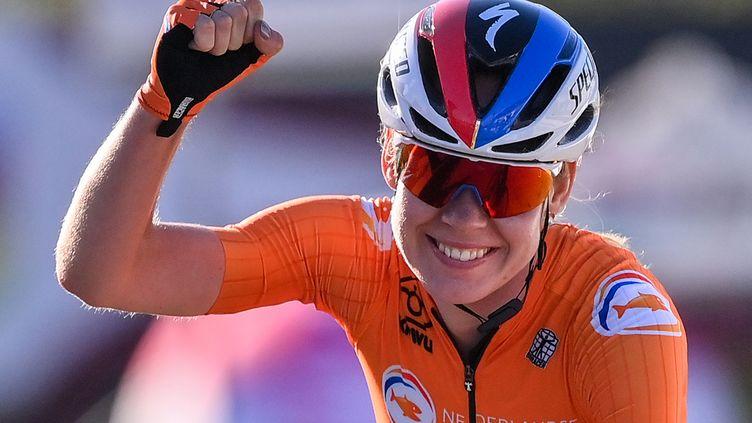 Anna van der Breggen, désormais double championne du monde (MARCO BERTORELLO / AFP)