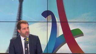 Christophe Castaner, le porte-parole du gouvernement, invité de franceinfo jeudi 14 septembre 2017. (RADIO FRANCE / FRANCEINFO)