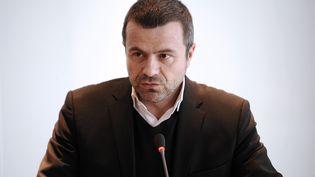 """Thierry Thuillier, alors directeur de l'information de France Télévisions, lors de la présentation du """"Grand Soir 3"""", au siège de France Télévisions, à Paris, le 27 février 2013. (LIONEL BONAVENTURE / AFP)"""