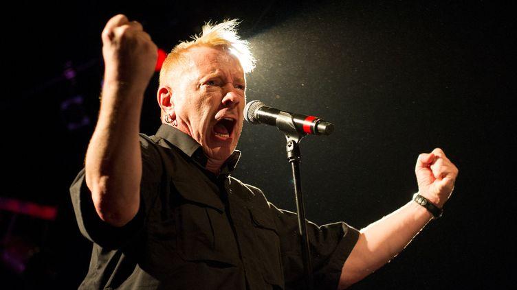John Lydon, alias Johnny Rotten en concert à Berlin en octobre 2015.  (Roland Popp / DPA)