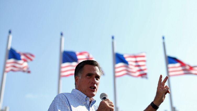 Le candidat républicain Mitt Romney, le 1er septembre 2012 à Jacksonville (Floride). (JUSTIN SULLIVAN / GETTY IMAGES NORTH AMERICA)