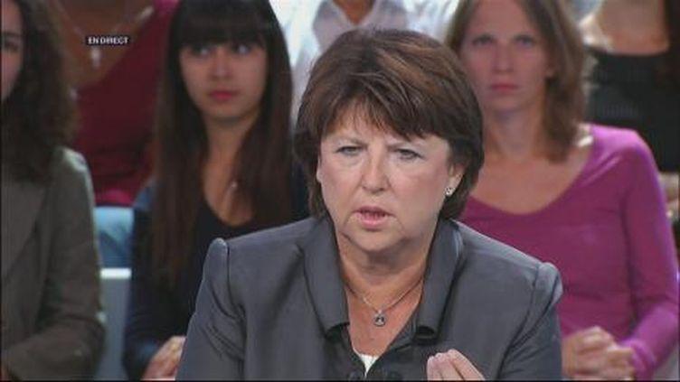 Martine Aubry (France 2)