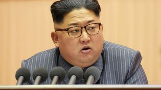 Photo de Kim Jong-un, le dirigeant nord-coréen, prise le 23 décembre 2017. (KCNA VIA KNS / AFP)