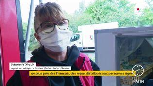 Stéphanie Girault, agente municipale à Stains (France 2)