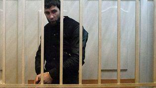 Zaour Dadaïev, un des hommes suspectés d'avoir tué l'opposant russeBoris Nemtsov, le 8 mars 2015 à Moscou (Russie). (PHILIPP KIREEV / AFP)