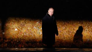 Vladimir Poutine, le 2 février 2018, àVolgograd (sud du pays). (MAXIM SHEMETOV / AFP)