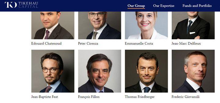 François Fillon fait désormais partie de la quarantaine d'associés du fond d'investissement Tikehau. (CAPTURE ECRAN / TIKEHAU CAPITAL)