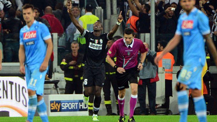 Paul Pogba, buteur avec la Vieille Dame.  (OLIVIER MORIN / AFP)