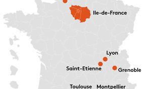 Carte des territoires sous couvre-feu de 21h à 6h à partir du 17 octobre (FRANCEINFO)