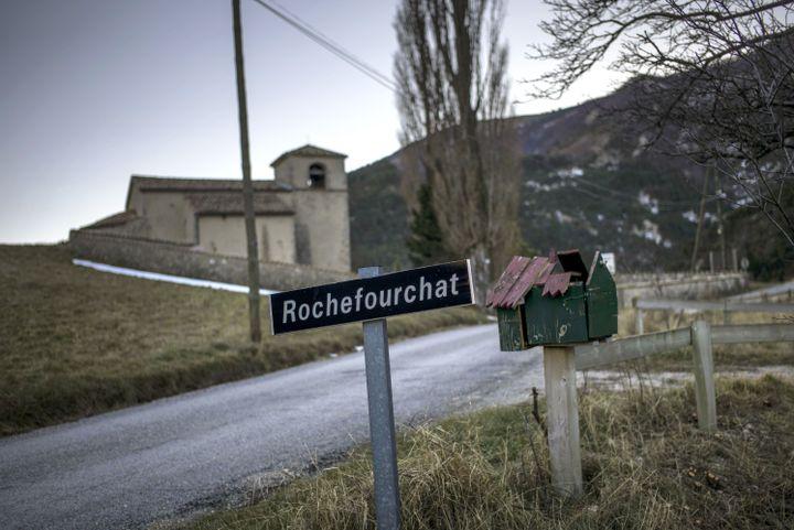 La commune de Rochefourchat, dans la Drôme, le 17 décembre 2013. (JEFF PACHOUD / AFP)