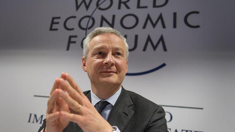 Le ministre de l'Économie, Bruno Le Maire, le 22 janvier 2020 au forum économique de Davos en Suisse. (FABRICE COFFRINI / AFP)