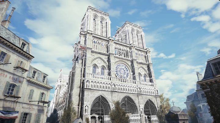 La cathédrale Notre-Dame modélisée dans Assassin's Creed Unity, grâce à des millions de polygones. (UBISOFT)