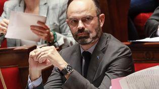 Le Premier ministre Edouard Philippe lors de la séance de questions au gouvernement,le 25 février 2020 à l'Assemblée nationale. (LUDOVIC MARIN / AFP)