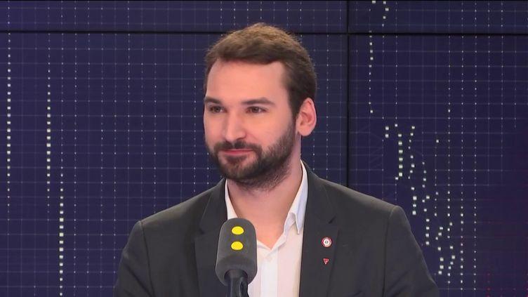 Ugo Bernalicis, député de La France insoumise du Nord, le 31 janvier 2019. (FRANCEINFO / RADIOFRANCE)
