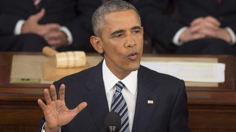 (Dans son dernier discours sur l'état de l'Union, Barack Obama a appelé l'Amérique à aller de l'avant © MaxPPP)