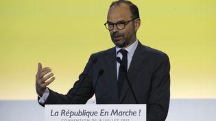 Le Premier ministre Edouard Philippelors de la convention de La République en marche (LREM) à Paris, le 8 juillet 2017. (FRANCOIS GUILLOT / AFP)