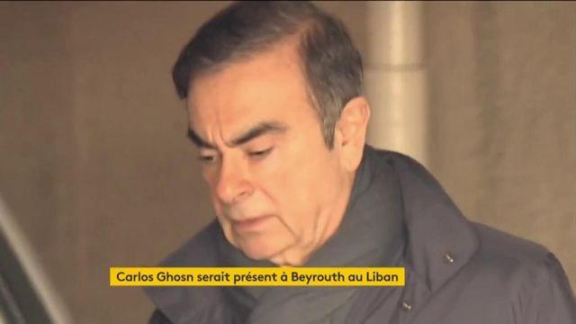 L'ex-patron de Renault Carlos Ghosn se réfugie au Liban