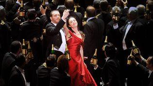 La soprano Ermonela Jaho (Violetta) et Fransesco Meli (Alfredo), interprètes de La Traviata, l'un des opéras plus joués au monde.  (Philippe Gromelle Orange)