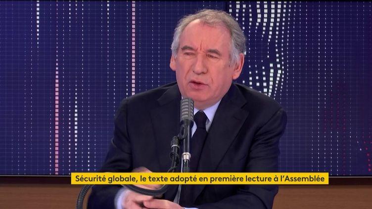 François Bayrou, sur franceinfo, le 26 novembre 2020. (FRANCEINFO / RADIO FRANCE)