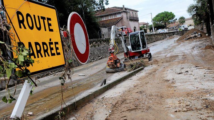 Les dégâts à Montagnac (Hérault) après des inondations, le 30 septembre 2014. (MAXPPP)