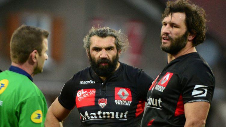 Sébastien Chabal et Lionel Nallet (Lyon OU) (PHILIPPE JUSTE / MAXPPP)