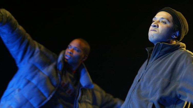 Le groupe de rap La Rumeur (1er mars 2004) (AFP/MARTIN BUREAU)