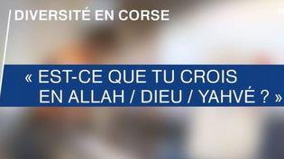 diversité religion corse (France 3)
