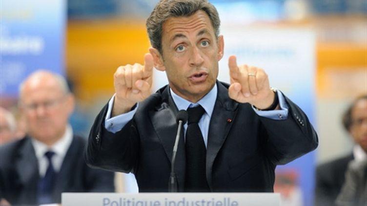 Nicolas Sarkozy à Montbard, le 4 septembre 2010 (AFP - Eric Feferberg)