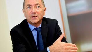 Jean-Luc Lennon, alors procureur de la République de Lons-le-Saunier (Jura), lors d'une conférence de presse, le 9 août 2018. (MAXPPP)