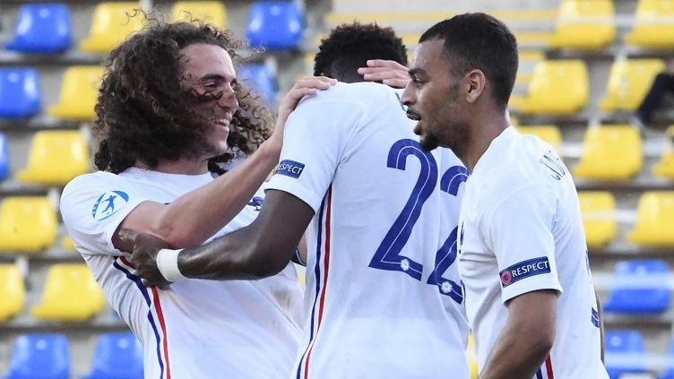 L'équipe de France a décroché son ticket pour les quarts de finale de l'Euro 2021, ce mercredi 31 mars.  (ATTILA KISBENEDEK / AFP)