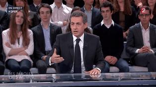 Nicolas Sarkozy sur le plateau de France 2, le 4 février 2016. (FRANCE 2)
