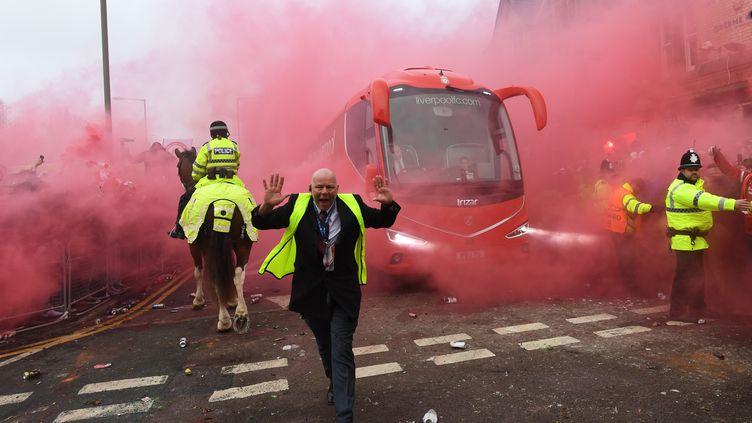 Après les incidents du match aller, la sécurité va être renforcée (PAUL ELLIS / AFP)