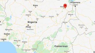 Capture d'écran de larégion de Konduga, située dans l'Etat du Borno, au Nigeria, le 24 mars 2020. (GOOGLE MAPS)