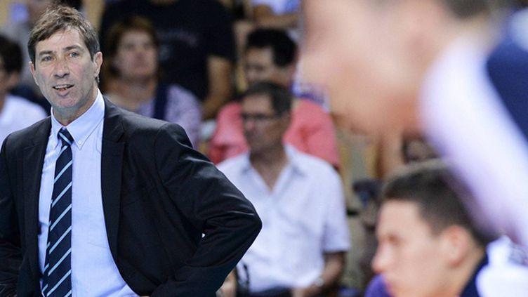 L'entraîneur de l'équipe de France de volley Laurent Tillie (PHILIPPE RENAULT / MAXPPP)