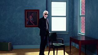 Karl LagerfeldAutoportrait, New-York2011Impression jet d'encre noir et blanc sur papier Fabriano  (2015 Karl Lagerfeld)