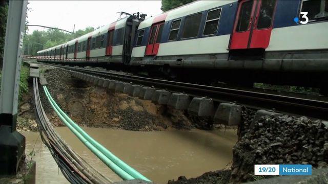 Essonne : déraillement du RER B suite à un glissement de terrain