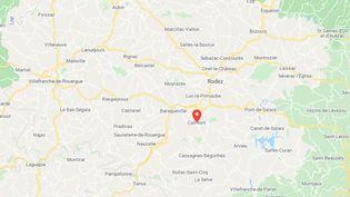 Une femme âgée de 48 ans a été tuée à l'arme blanche dimanche 31 juillet à Calmont, à une vingtaine de kilomètres au sud de Rodez (Aveyron). (GOOGLE MAPS)