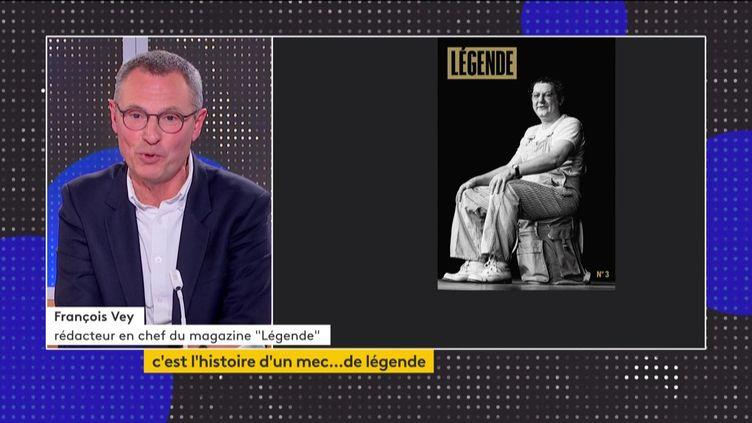 """François Vey et Coluche en Une de """"Légende"""" (FRANCEINFO)"""
