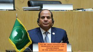 Abdel Fattah al-Sissi, président de l'Egypte et président par intérim de l'Union africaine, participe à la clôture de la 32e session ordinaire du sommet de l'Union africaine (UA) au siège à Addis-Abeba, en Ethiopie le 11 février 2019. (MINASSE WONDIMU HAILU / ANADOLU AGENCY)