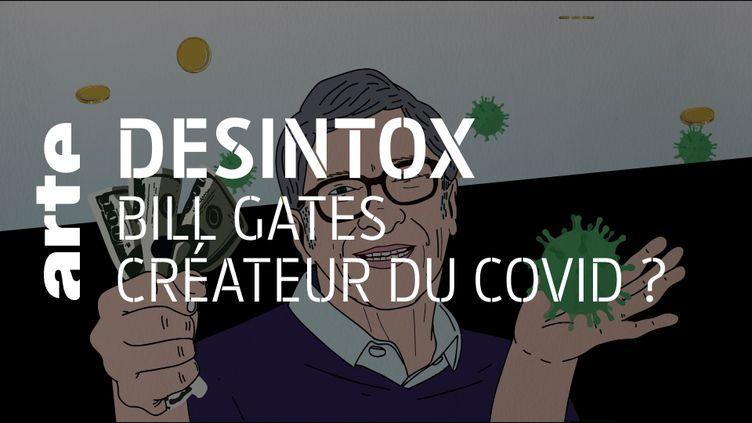 Désintox. Non Bill Gates n'a pas créé le coronavirus et ne profite pas de la crise sanitaire (ARTE/2P2L)