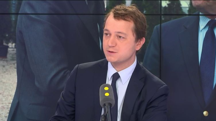 Maël de Calan, candidat à la présidence du parti Les Républicains, le 11 novembre 2017. (FRANCEINFO / RADIO FRANCE)