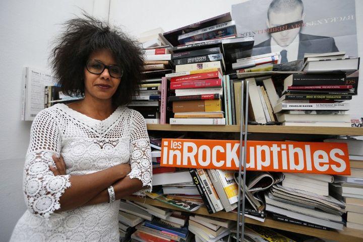 Le 16 juillet 2012, Audrey Pulvar à la rédaction des Inrockuptibles. (FRANCOIS GUILLOT / AFP)
