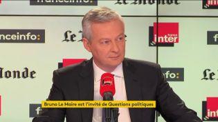 Le ministre de l'Economie et des Finances, Bruno Le Maire, dimanche 27 janvier 2019. (RADIO FRANCE / FRANCE INTER)