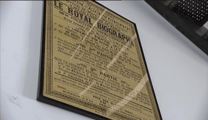 L'affiche de la première séance au cinéma l'Eden, en 1899  (France 3/ Culturebox)